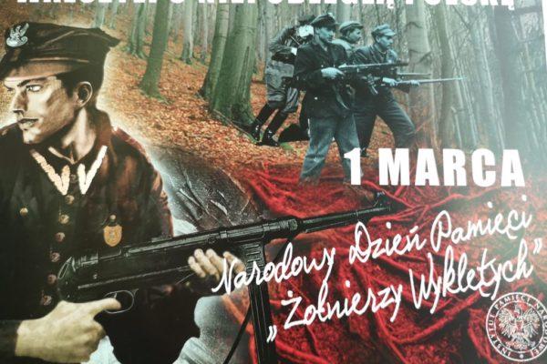 Plakat Narodowy Dzień Pamięci Żołnierzy Wyklętych